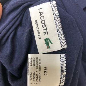 Lacoste Shirts - Men's Lacoste regular fit navy T-shirt, sz 5 or L